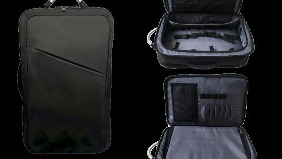 barber backpack 3 image with lOGO